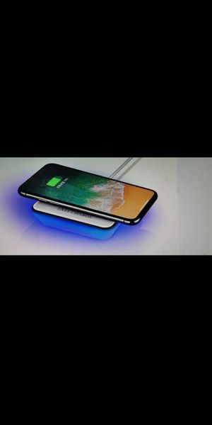QI wireless charger charging pad w/ led for iphone 8 plus, iPhone x, iPhone 11, galaxy s8, Samsung Galaxy s9, galaxy s10, galaxy note 8, note 8 for Sale in Gilbert, AZ