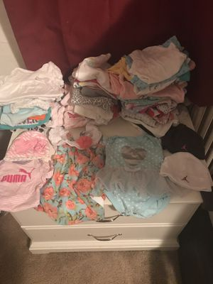 Newborn to 6 months summer clothes for baby girl, perfect condition, No stains come from a pet free smoke free home, there are 64 pieces for Sale in Washington, DC