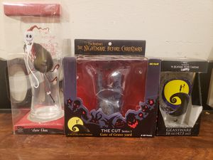 Nightmare before Christmas glasses and collectable for Sale in Aurora, CO