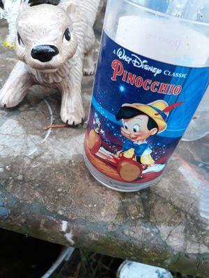 Disney pinocchio glass for Sale in Tacoma, WA