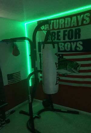 Everlast dual punching bag stand (comes with bag and speed bag) for Sale in Richmond, VA