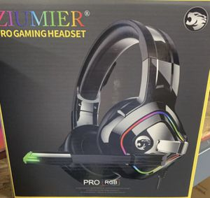 ZIUMIER Gaming Headset Xbox One Headset, PS4 Headset with Noise Canceling Mic and RGB Light, PC Headset with Bass Surround Sound, Over Ear Headphones for Sale in Rowland Heights, CA