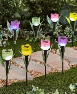 New( 8 Pcs) Assorted Color-Tulip Solar LED for Sale in Buena Park,  CA