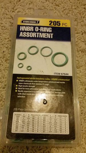 205pc HBNR O-Ring Assortment for Sale in Salinas, CA