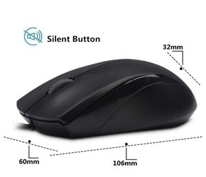 Wired USB Optical Silent Mouse, Computer Mouse with 1000 DPI, Compatible with PC, Mac,Desktop and Laptop (Black) for Sale in New York, NY