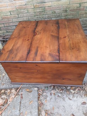 Rustic wooden coffee table with storage for Sale in Pensacola, FL