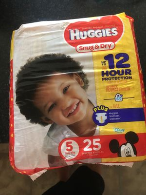 Huggies pamper size 5 for Sale in The Bronx, NY