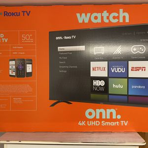 "Tv onn 50"" Class 4K UHD (2160P) LED Roku Smart TV HDR for Sale in Morningside, MD"