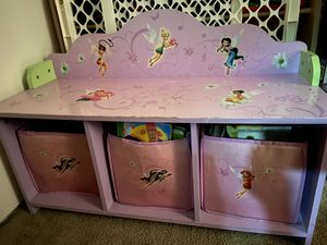 Tinkerbell toy bin does not include books $20 for Sale in La Mesa, CA