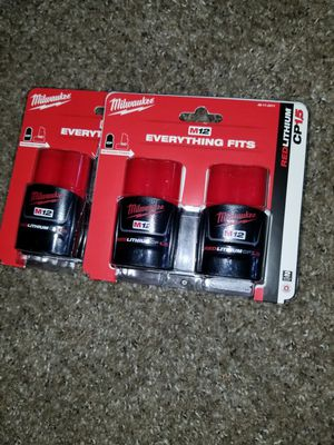 3× Milwaukee M12 Red Lithium Batteries NEW for Sale in Saint Paul, MN