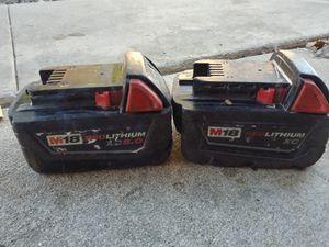 M18 milwaukee battery 3.0 & 5.0 for Sale in Murrieta, CA