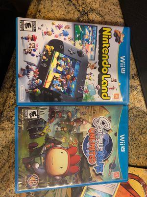 (NINTENDO) NintendoLand & ScribbleNauts: Unlimited for Wii U for Sale in Miami, FL