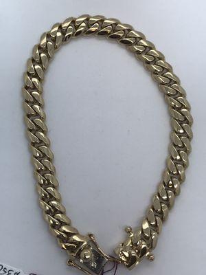 14k Gold Miami Cuban Bracelet New for Sale in Renton, WA