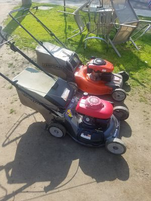 2 mower Honda and husqvarna both needs carb cleen take both 125 asis for Sale in Exeter, CA