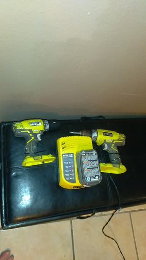 Ryobi drill and hammer drill with battery and charger for Sale in Metairie, LA