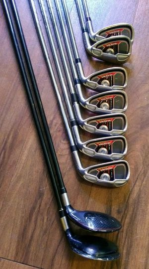 Full Set of Taylormade Burner Plus Irons & 2 Rescue Clubs - Excellent Grips for Sale in Chandler, AZ