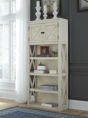 Amor Bolanburg White/Oak Large Bookcase | H647 for Sale in Pflugerville, TX