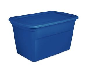 Sterilite 18 Gallon Plastic Stackable Storage Tote Container Box, Blue for Sale in Washington, DC