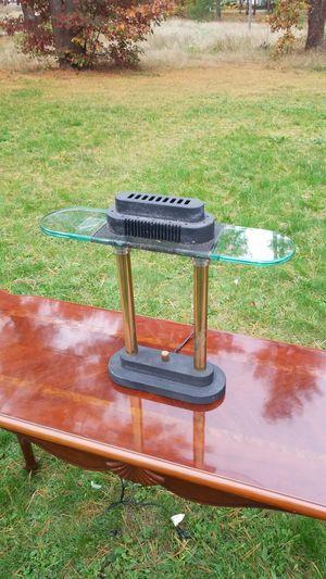 Vintage Underwriters Laboratories Brass Metal & Glass Halogen Desk Lamp for Sale in Westport, MA