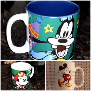 Set of 3 Disney Mugs - Mickey Mouse & Goofy for Sale in Lynbrook, NY