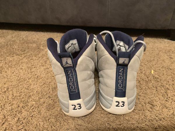 Jordan retro 12 grey and University blue