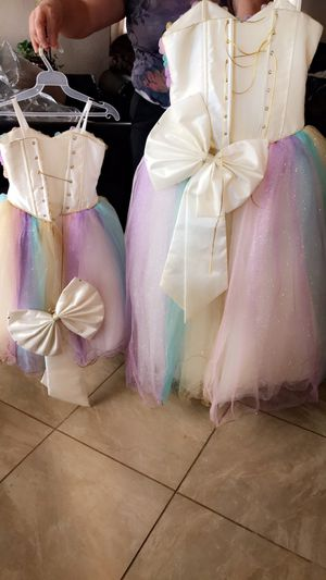 Unicorn dresses small is size 3 and big is size 12 for Sale in Albuquerque, NM