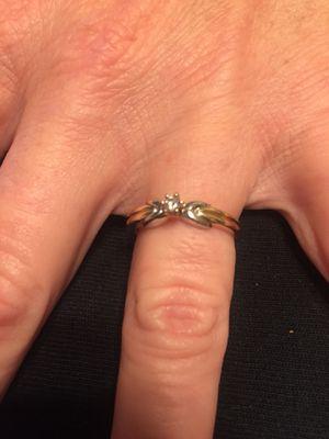14k gold w/.05 real diamond ring for Sale in Fresno, CA