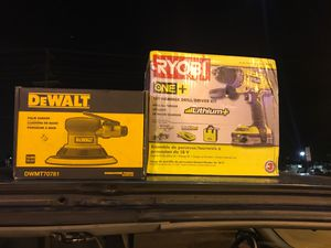 Only tonight must sell ASAP brand new D Walt and Ryobi power tools never for Sale in Hilliard, OH