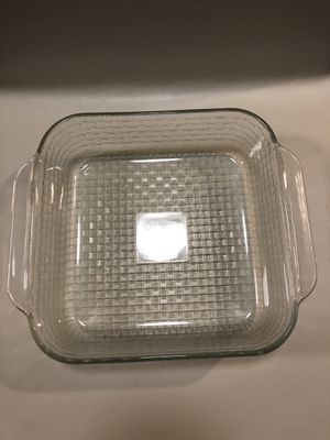 """Vintage Pyrex 8"""" Square Clear Embossed Basketweave Baking Dish # 222 - R for Sale in Alexandria, VA"""