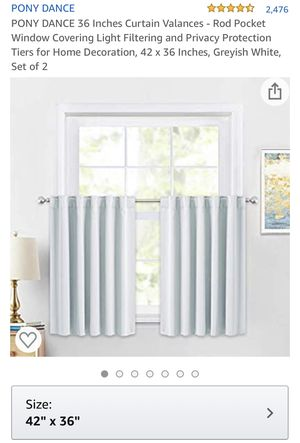 "36"" Tall Valence Curtains - Light Grey for Sale in Miami, FL"