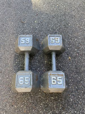 65lb dumbbells for Sale in Orono, MN