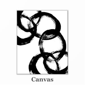 Black and white abstract canvas wall art print for Sale in Grand Haven, MI