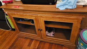 Wood closet TV stand for Sale in Pittsburgh, PA
