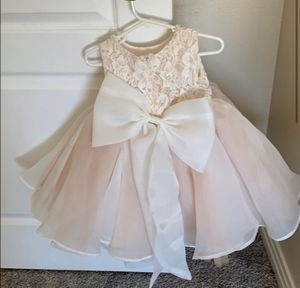New lace pearl bow flower girl event wedding holiday girls toddler dress for Sale in Arcadia, CA