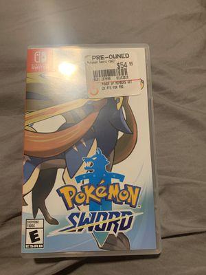 Pokémon Sword Nintendo Switch for Sale in Bakersfield, CA