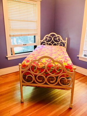 PBTeen twin white bed frame for Sale in Denver, CO