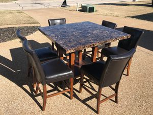 Counter-Height Kitchen Table And Six Chairs for Sale in Waco, TX