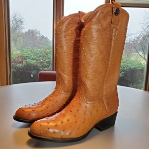 NEW Ostrich Rogers Tan Boots Men's Mexico Size 29 U.S.A. Size 10 for Sale in Willowbrook, IL