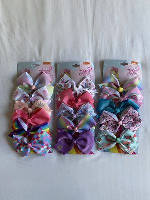 Jojo Siwa Bows 3 packs of 5 for Sale in Colton, CA