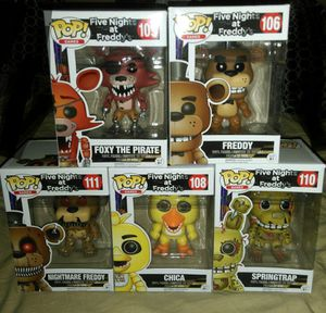 Five nights at Freddy's funko pop for Sale in Bell, CA