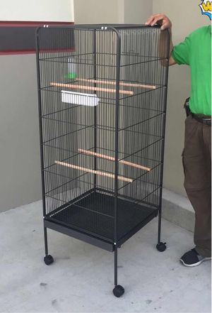 New in box 58 inches tall parakeet parrot bird cage with easy cleaning removable tray for Sale in Norwalk, CA