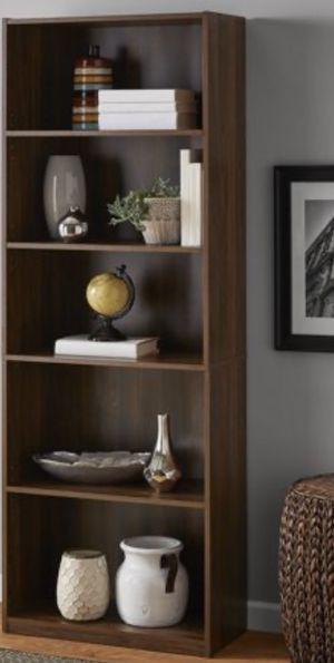 "New!! Bookcase, bookshelves, storage unit,organizer, living room furniture, 5 71"" shelves bookcase, walnut for Sale in Phoenix, AZ"