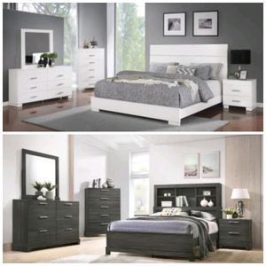 Blowout Sale! Brand New Queen Size Bedroom Sets Includes Queen size headboard, footboard, slats, side rails, dresser, mirror and nightstand $799 for Sale in Richmond, VA