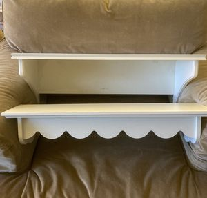 Pair of White (creamy) Small Shelves for Sale in Seattle, WA