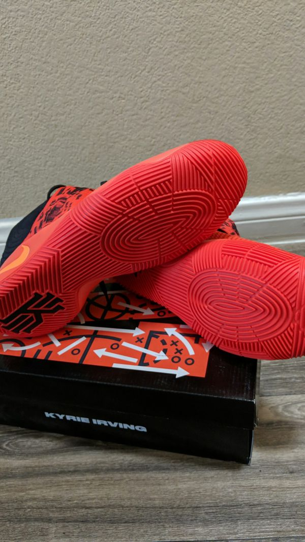 check out 89e44 c498f Nike Kyrie 2 Inferno Size 12.5 Bright Crimson Atomic Orange-Black ...