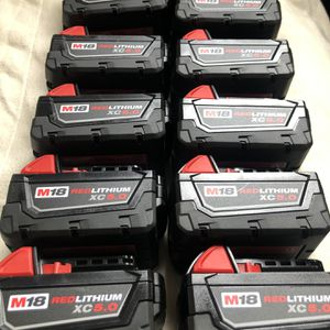Milwaukee New Battery $65 Each for Sale in Los Angeles, CA