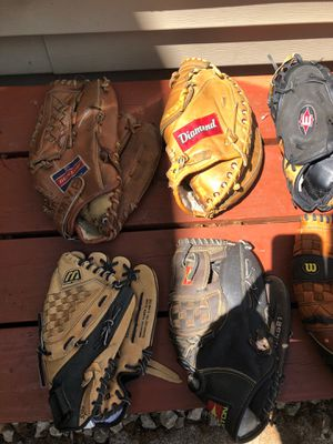 Baseball and softball gloves for Sale in Saint Paul, MN