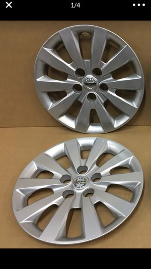 (2) Nissan Sentra wheel cover original oem factory genuine stock hubcap tapa de Goma llanta Covers hubcaps for Sale in Miami, FL