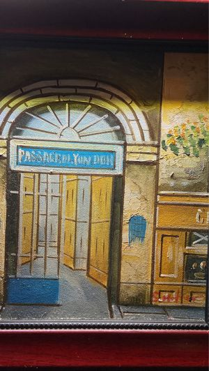 OIL ON CANVAS OF BUILDING FACADE AND DOORWAY, MID 20TH CENTURY for Sale in Oakland, CA