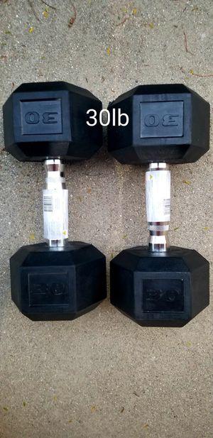 NEW 30 POUND DUMBBELLS/ 30LB DUMBBELL SET for Sale in Pomona, CA